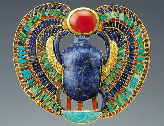 The heart scarab of Tutankhamen