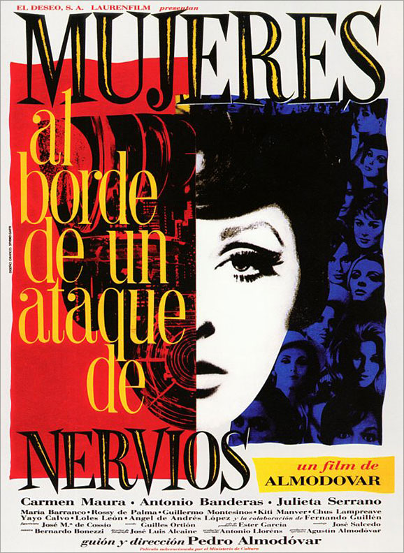 Juan Gatti's original poster for Women on the Verge of a Nervous Breakdown (1988)