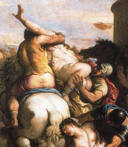 Detail from The Rape of the Sabine Women by Luca Giordano