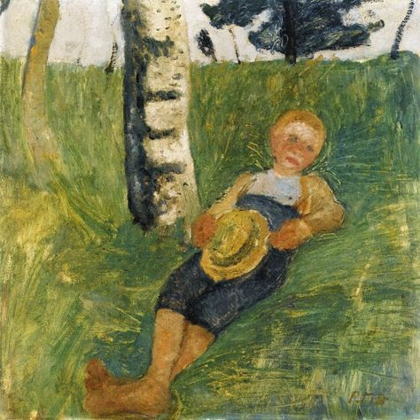Young Man Lying Next To A Birth Tree, Paula Modersohn-Becker