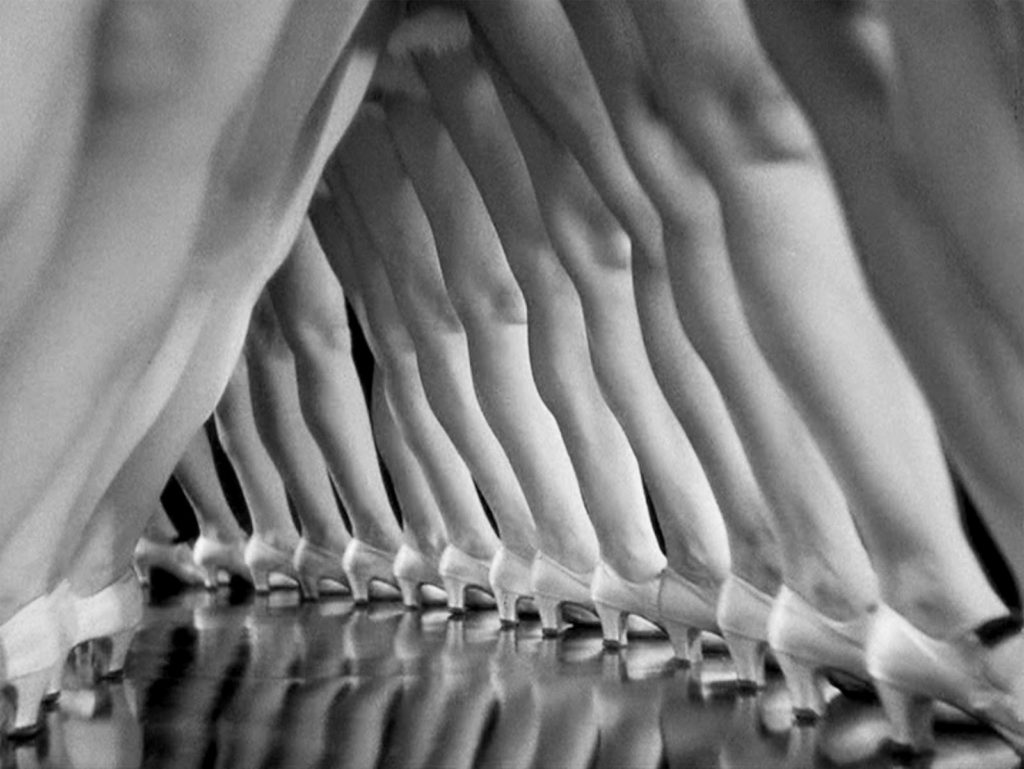 Busby Berkley loved ladies legs, symmetry and triangles.