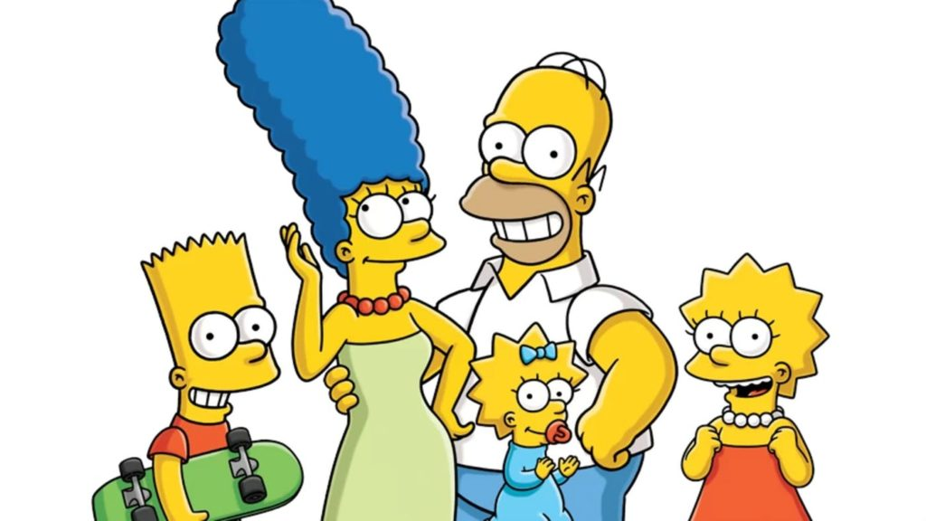 Bart, Marge, Homer, Maggie and Lisa Simpson: a nuclear family.